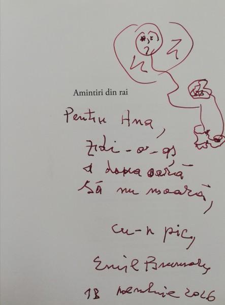 Autograf de la Emil Brumaru